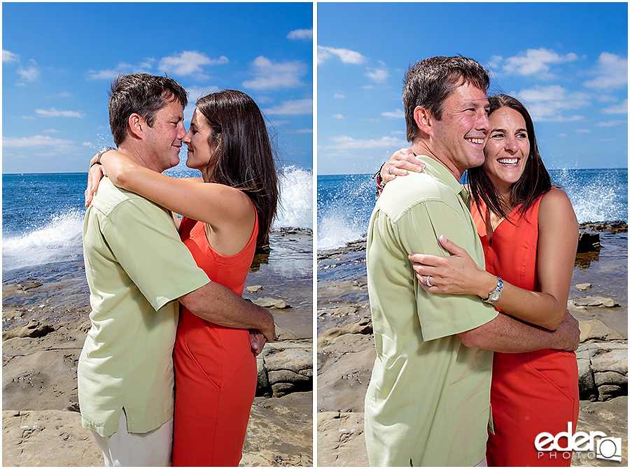 San Diego Beach Wedding Proposal at La Jolla Cove photography by Eder Photo