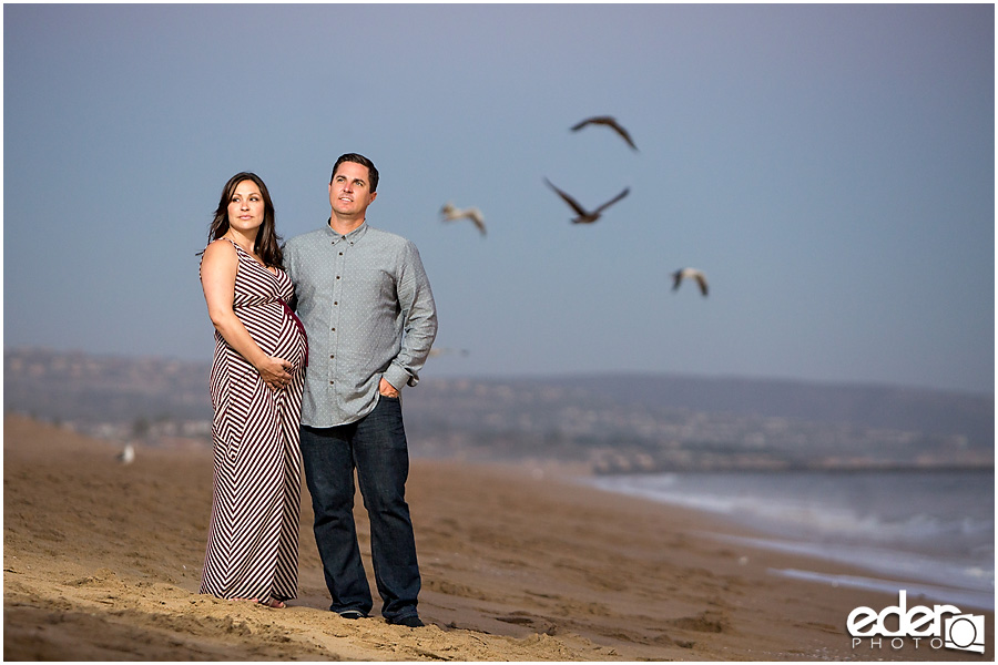Sunset Maternity Photo Newport Beach