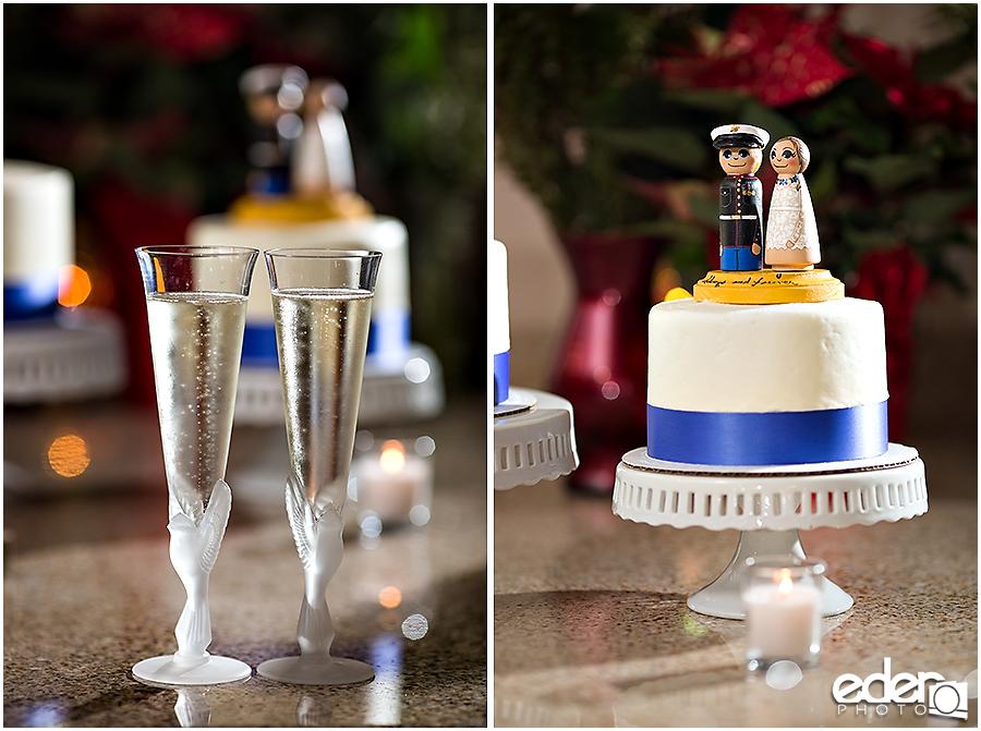 Destination elopement wedding cake