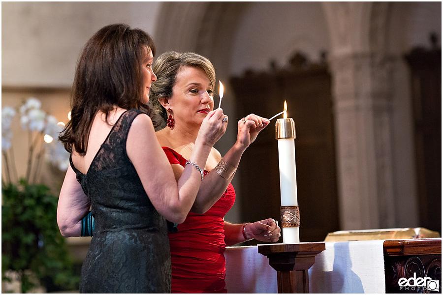 Founders Chapel Wedding candle