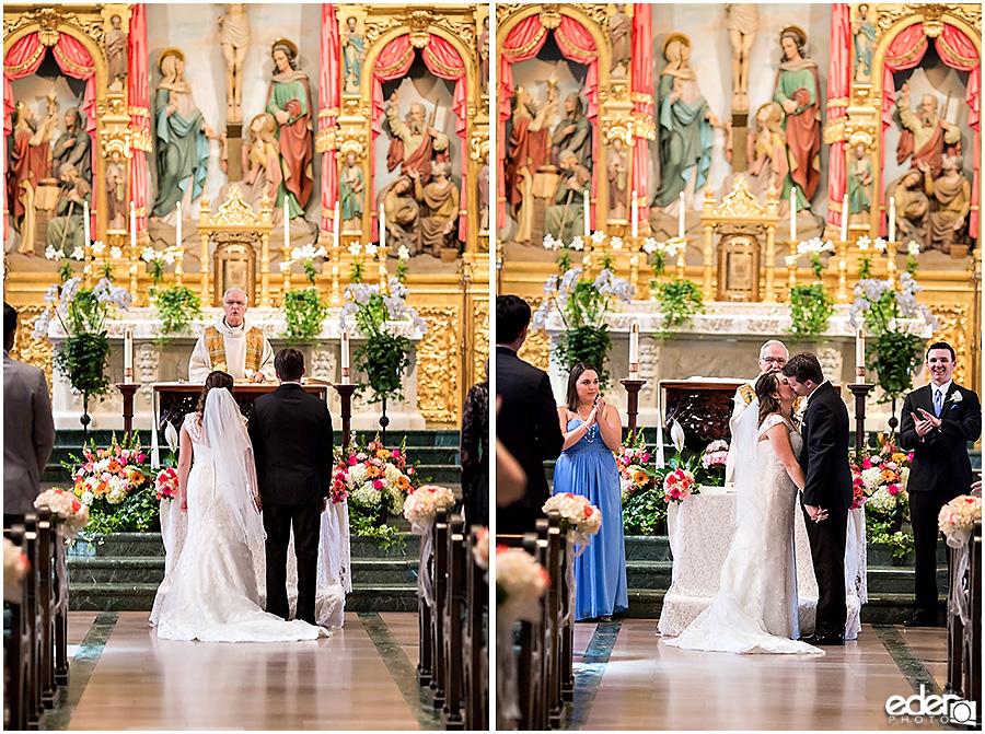 Founders Chapel Wedding kiss