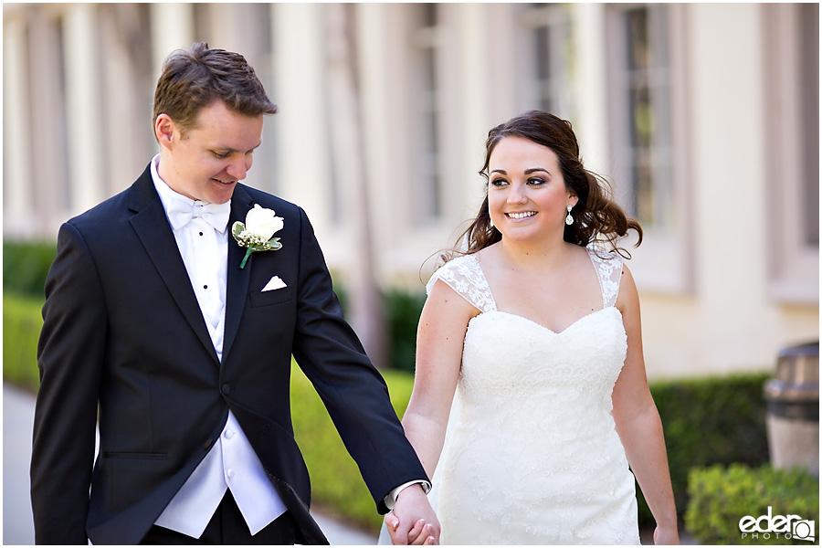 Founders Chapel Wedding bride and groom