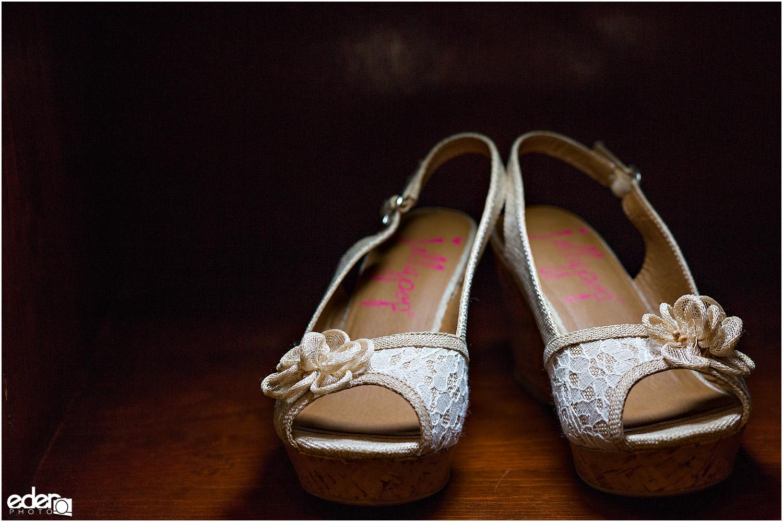 Heritage Park wedding details - shoes