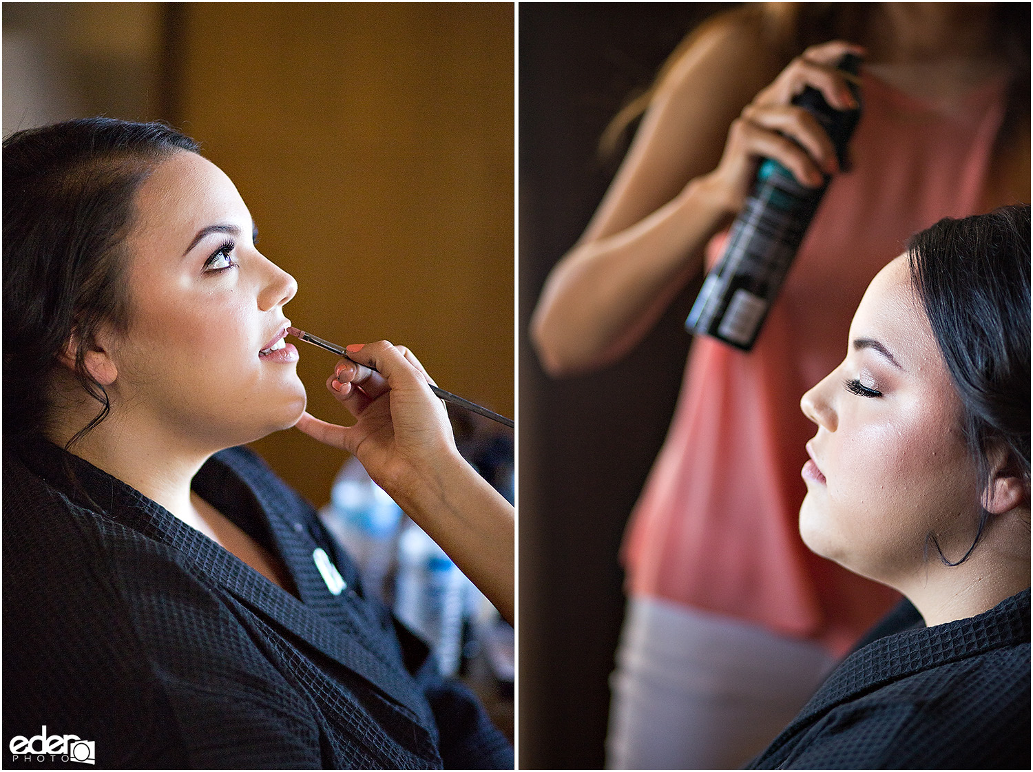 Heritage Park wedding prep - makeup