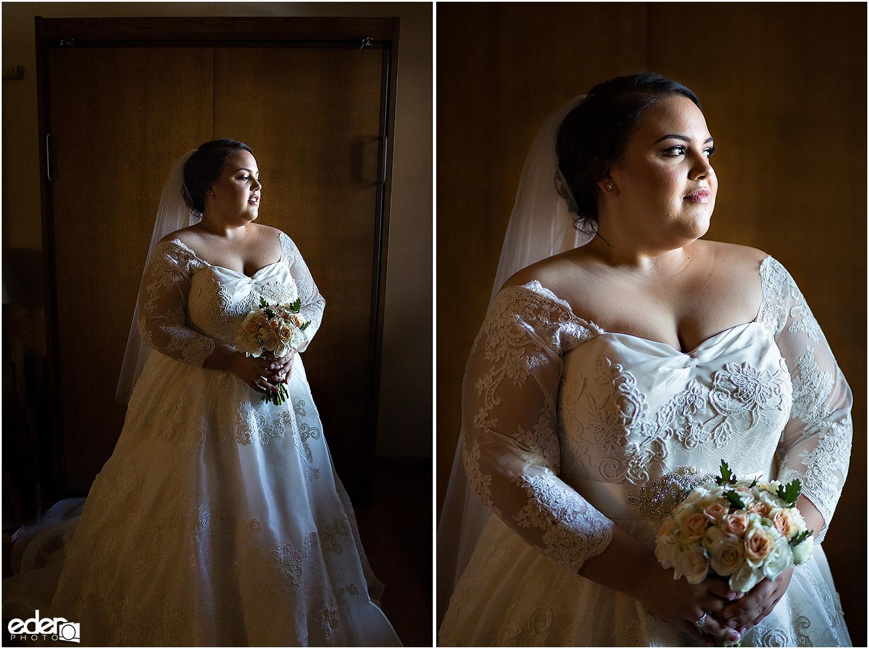 Heritage Park wedding prep - bride
