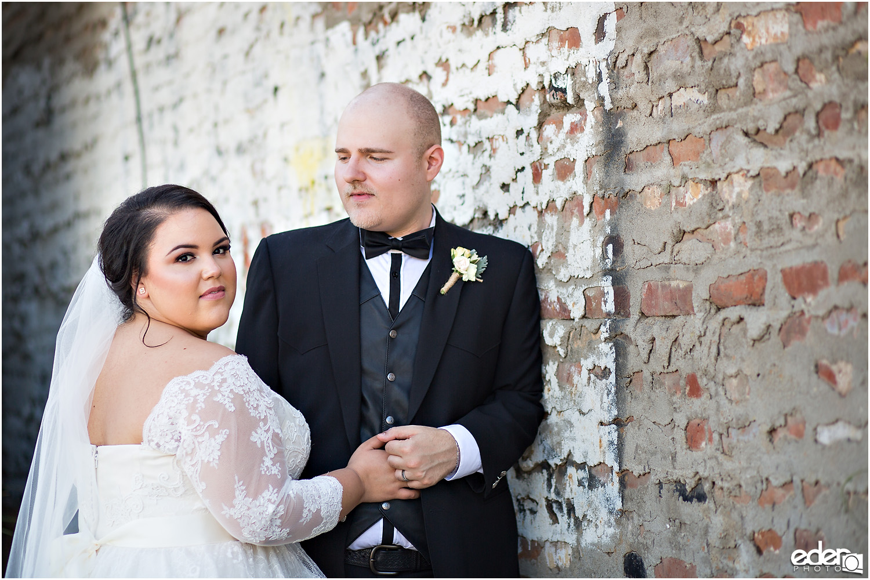 Moniker Warehouse Wedding Portraits Bride and Groom