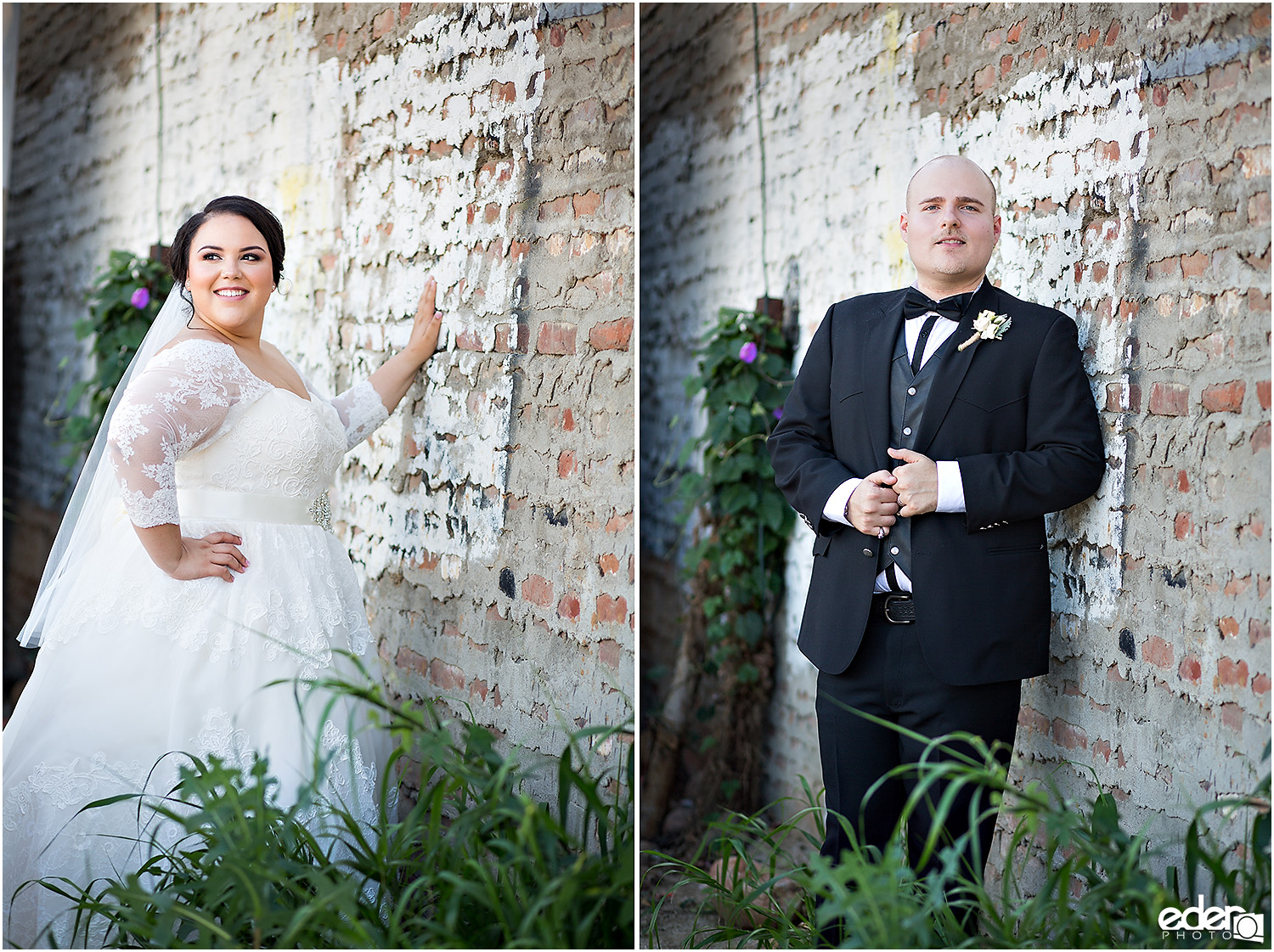 Moniker Warehouse Wedding Bride and Groom