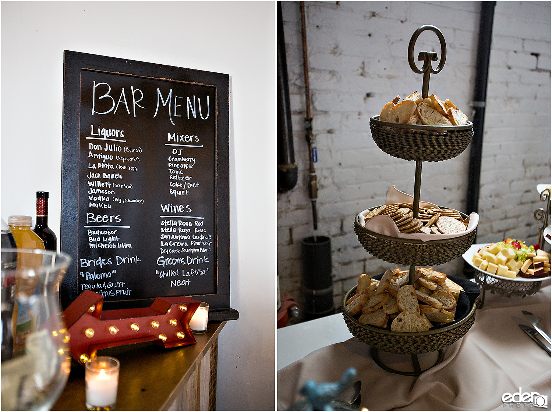 Moniker Warehouse Wedding Details - bar