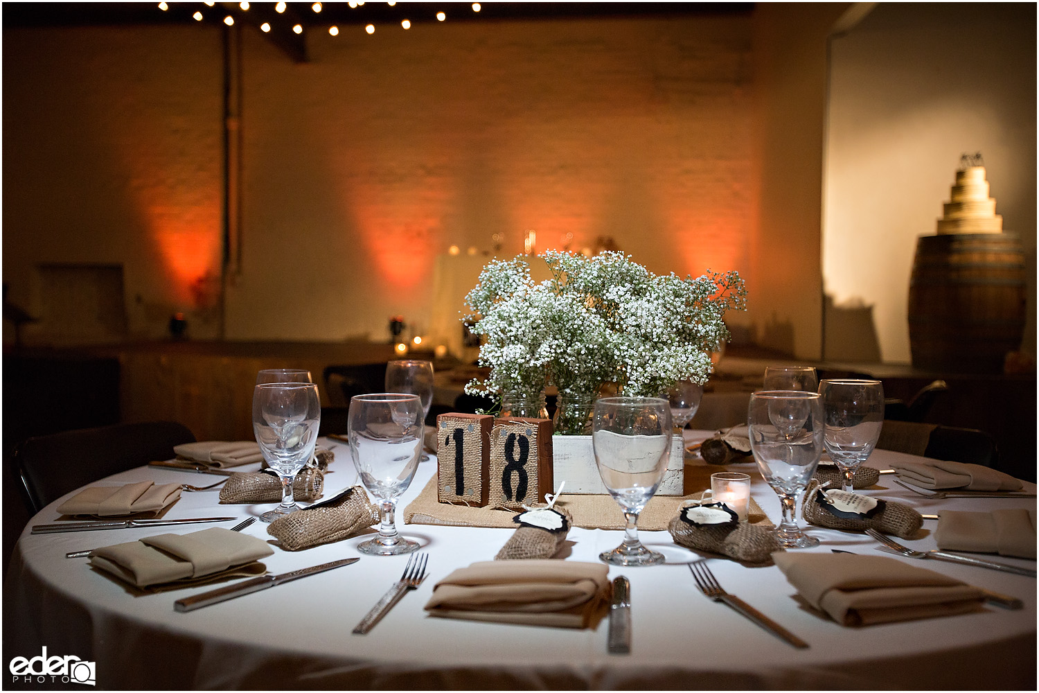 Moniker Warehouse Wedding Details - table decor