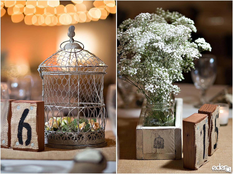 Moniker Warehouse Wedding Details - table decor