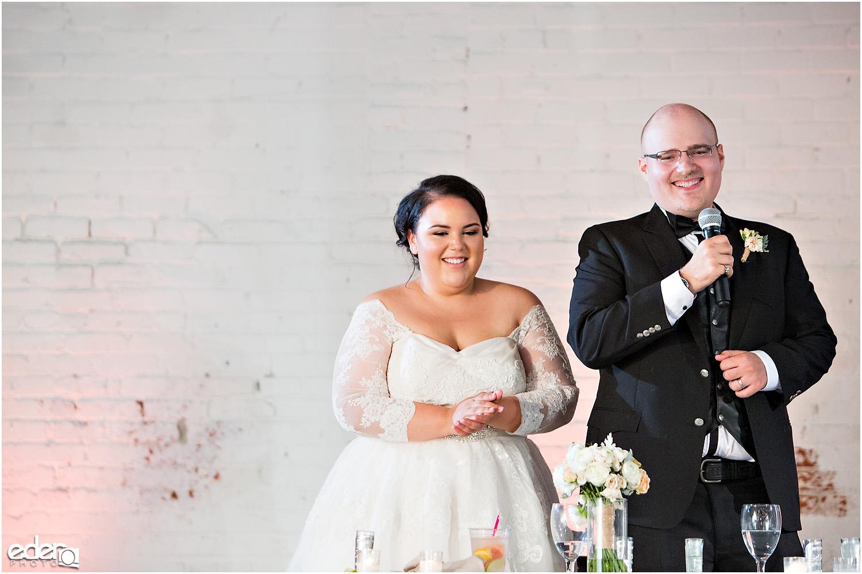 Moniker Warehouse Wedding Toasts