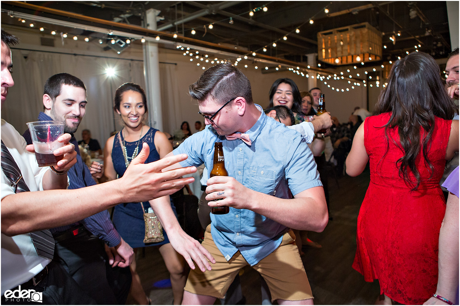 Moniker Warehouse Wedding Reception Dancing