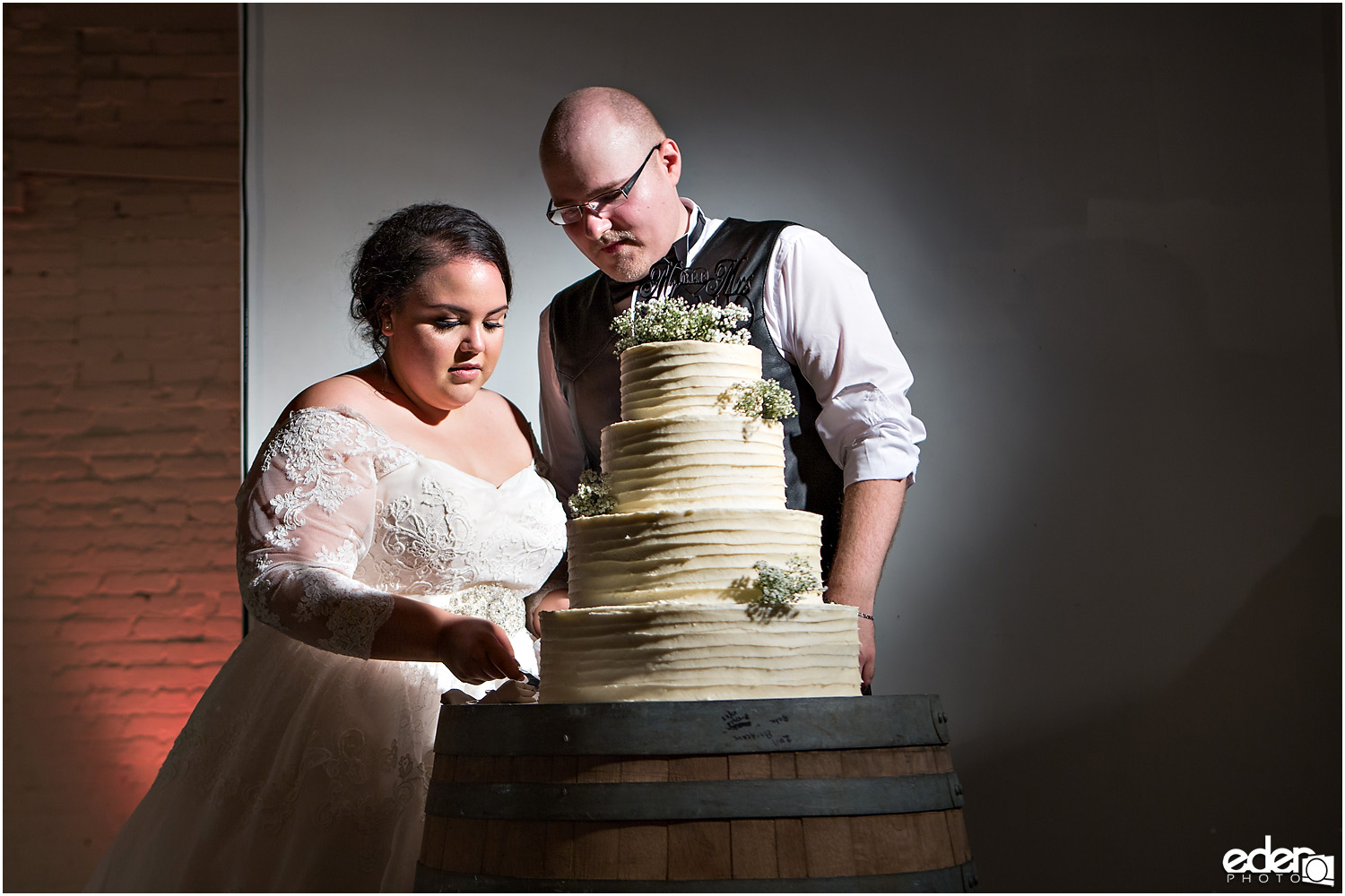 Moniker Warehouse Wedding Cake