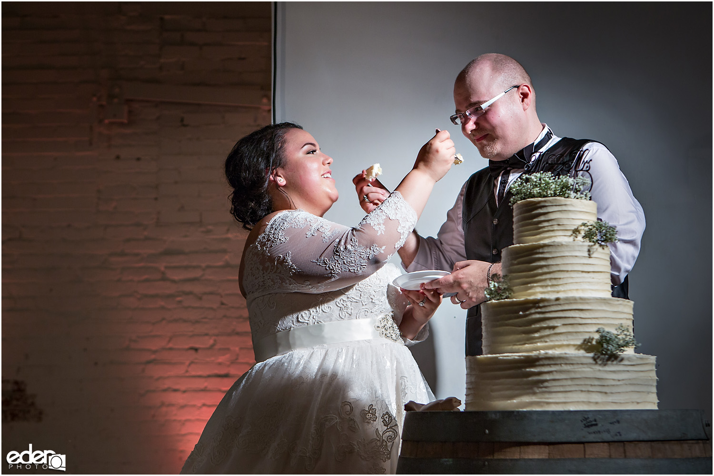 Moniker Warehouse Wedding Cake