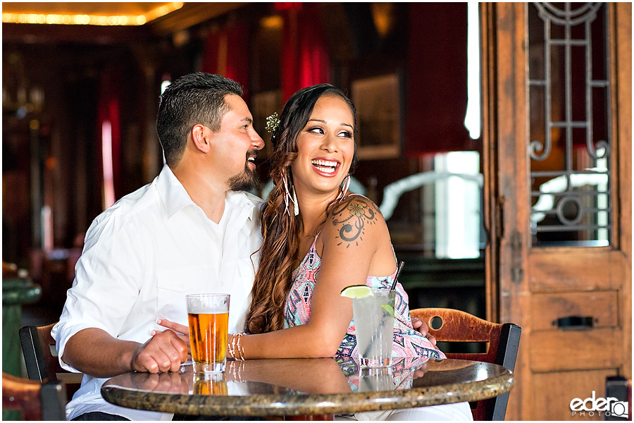Gaslamp Bar Engagement Session