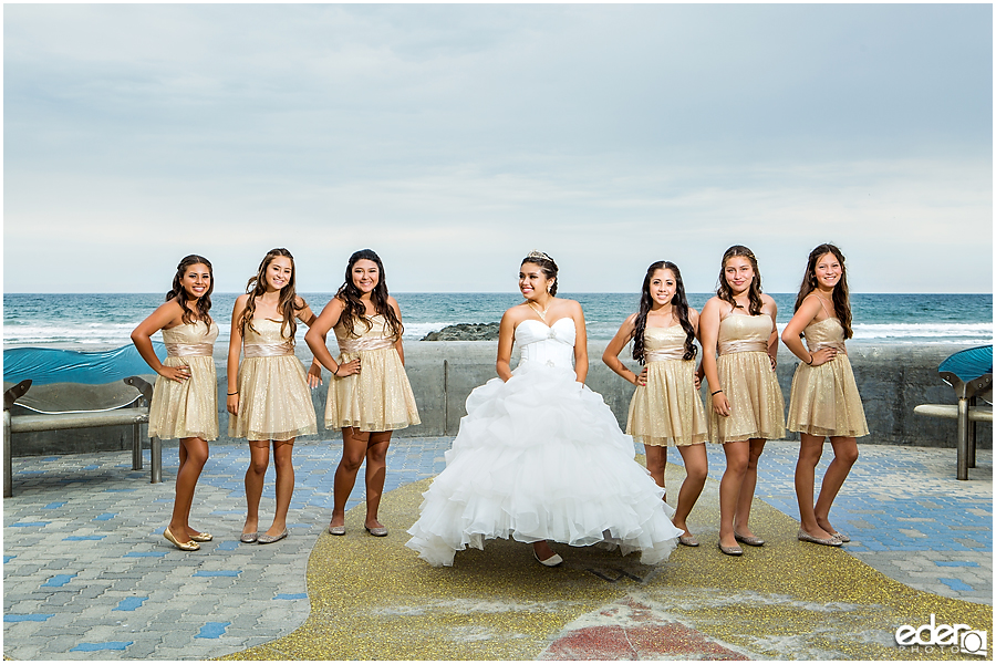 San Diego Quinceañera Photography - beach portraits