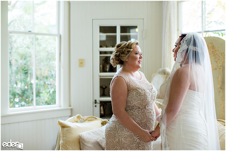 Bride and mom moment at Green Gables