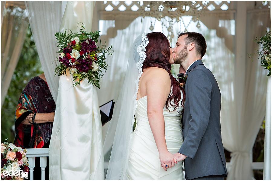 Green Gables Wedding Ceremony Kiss