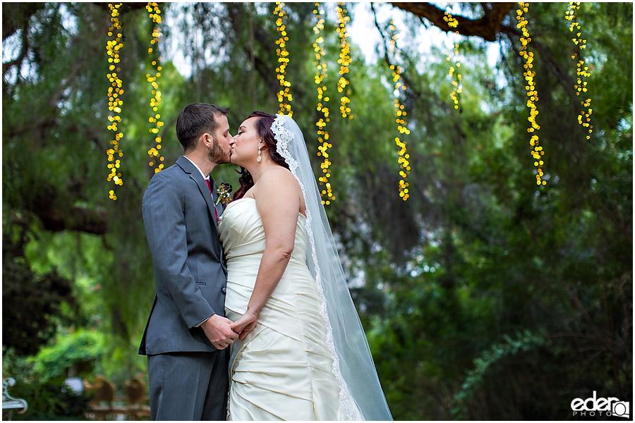 Green Gables Wedding Portraits tree lights
