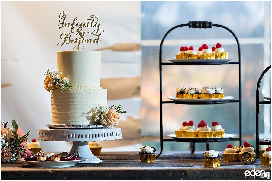 Green Gables Wedding Reception cake