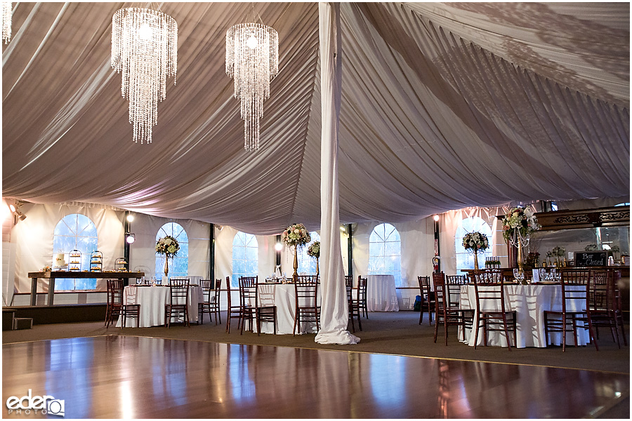 Green Gables Wedding Reception tent