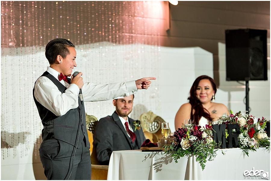 Green Gables Wedding Reception toasts