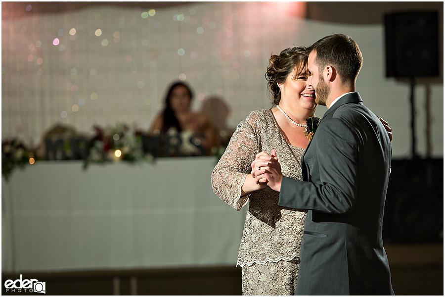 Green Gables Wedding Reception mother son dance