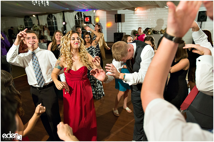 Dancing wedding reception photos