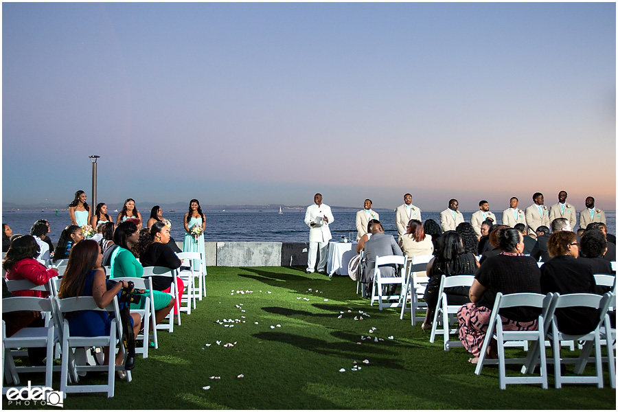 Ocean view wedding