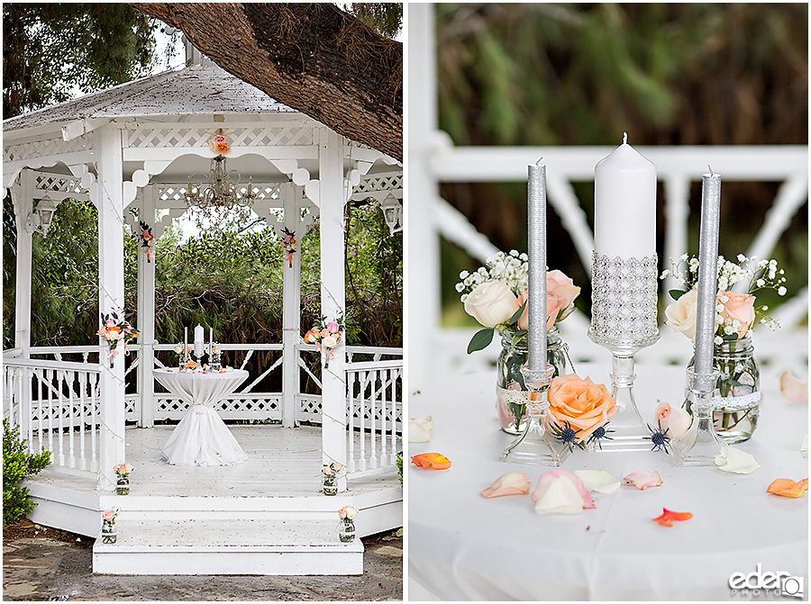 Ceremony details at Green Gables Wedding Estate
