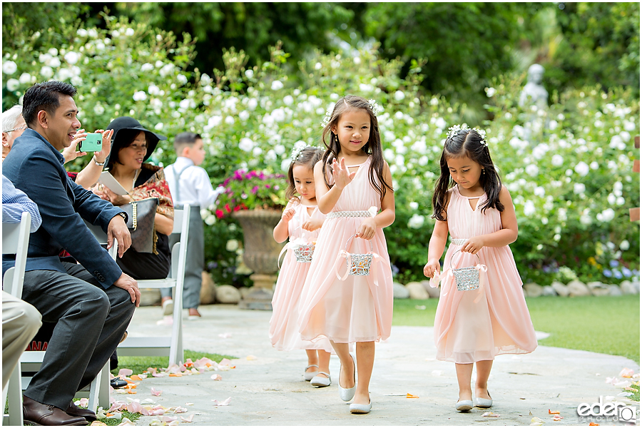 Flower girls at Green Gables Wedding Estate