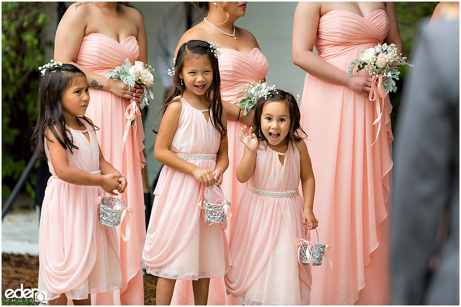 Cute flower girls at Green Gables Wedding Estate