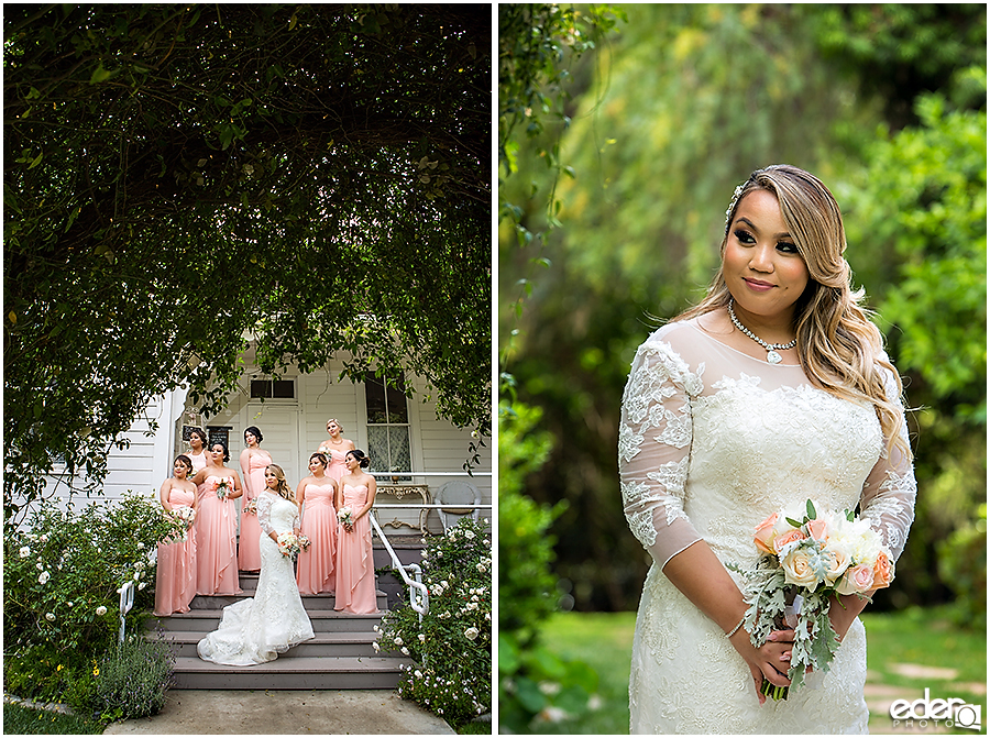 Bride and bridesmaids at Green Gables Wedding Estate