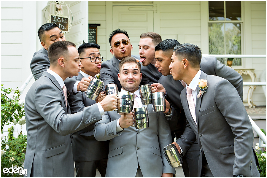 Groomsmen at Green Gables Wedding Estate