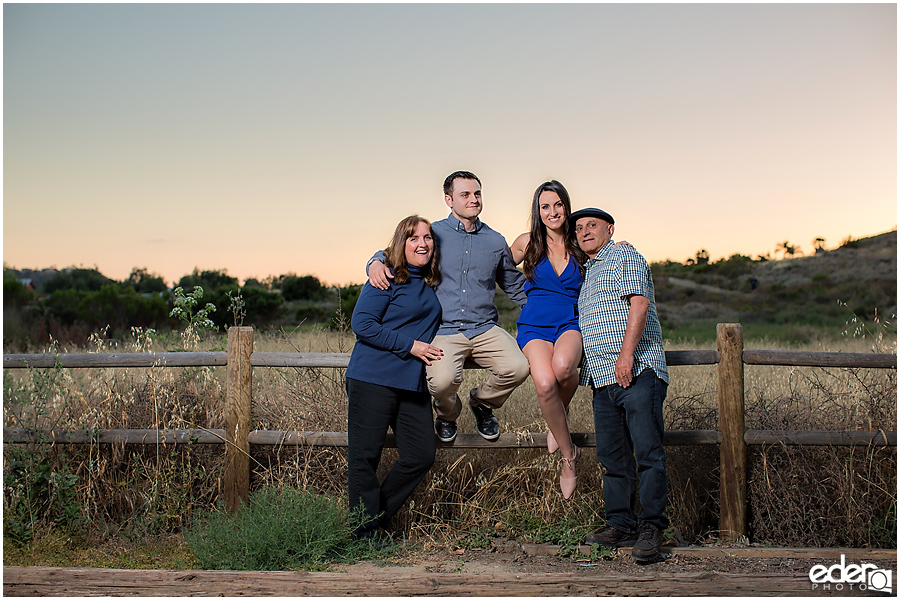 Sunset Family Portrait Photography in San Diego