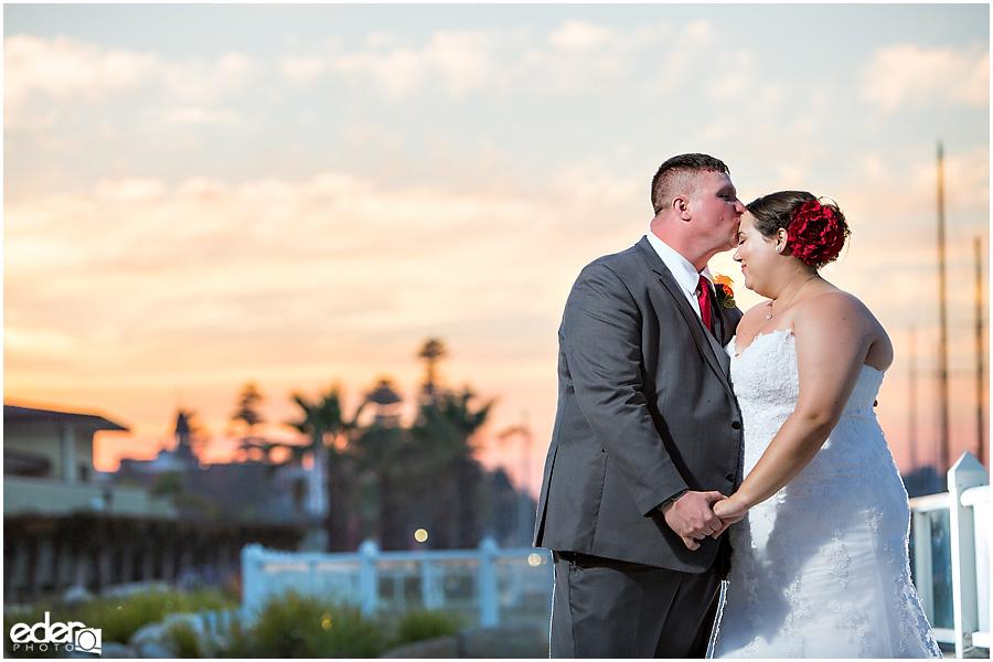 Cute wedding moments from Coronado, CA wedding.