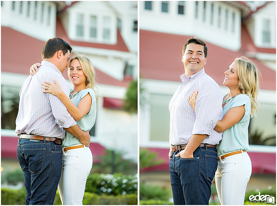 Engagement Session in front of the Hotel Del Coronado