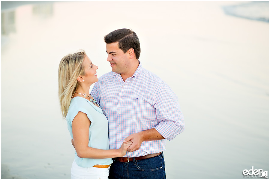Engagement session on coronado beach.