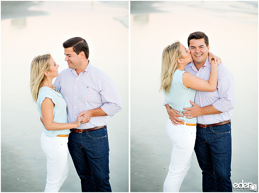 Coronado beach engagement session.