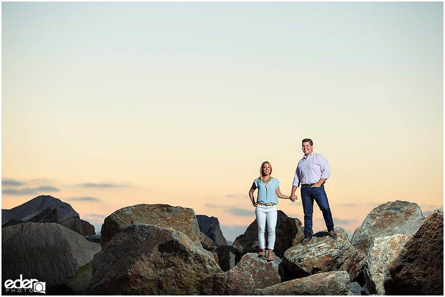 Sunset photo during engagement session in Coronado, CA.