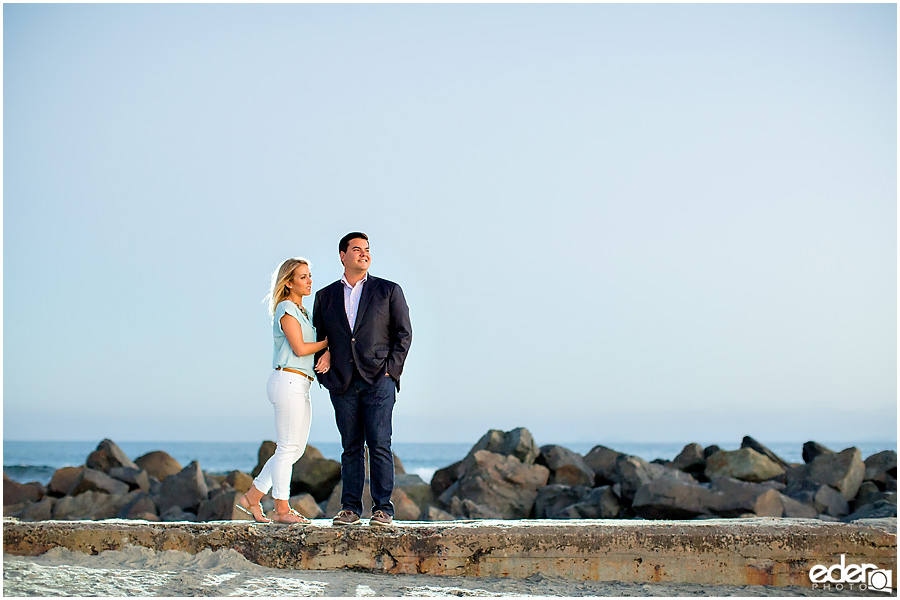 Sunset engagement session in Coronado, CA.