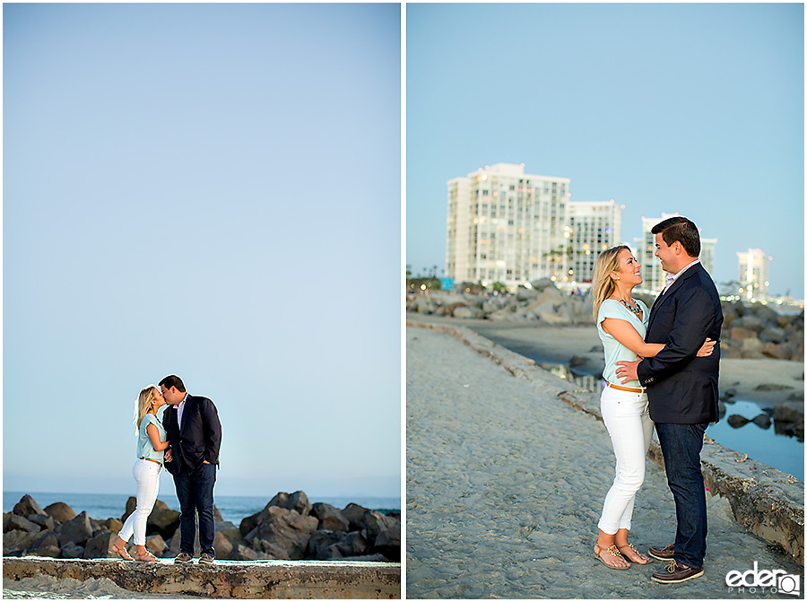 Sunset engagement session in Coronado beach.