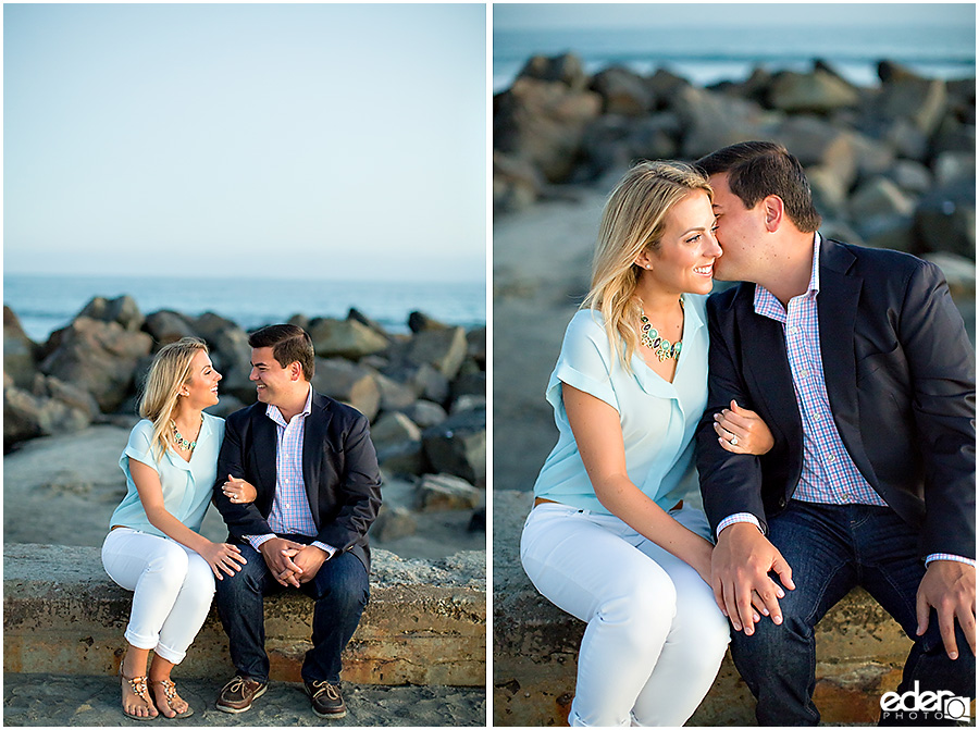 Sunset engagement session at Coronado Beach