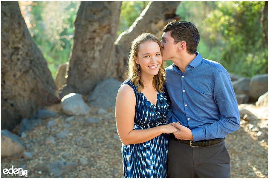 Mission Trails Engagement Session in sunset light.