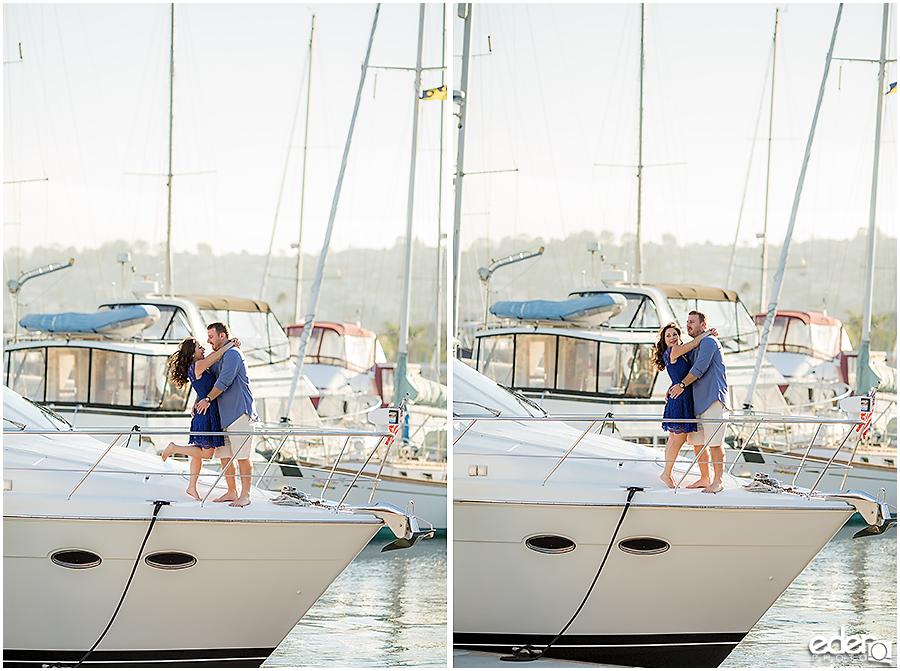 Point Loma Marina Engagement Session