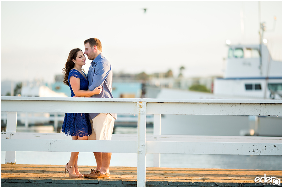Marina engagement session in Point Loma.