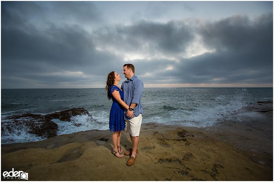 San Diego Sunset Cliffs engagement session.