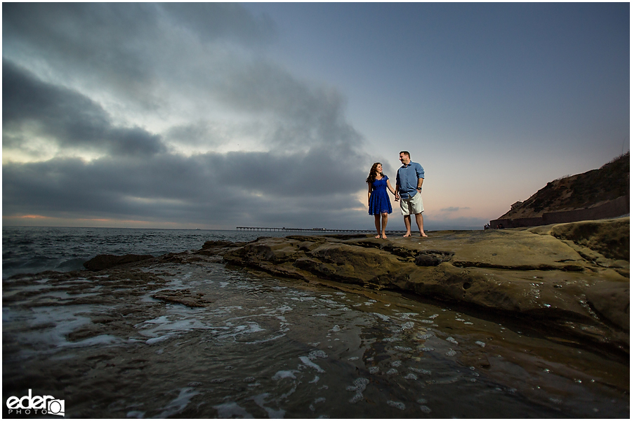 Ocean Beach engagement session photography.