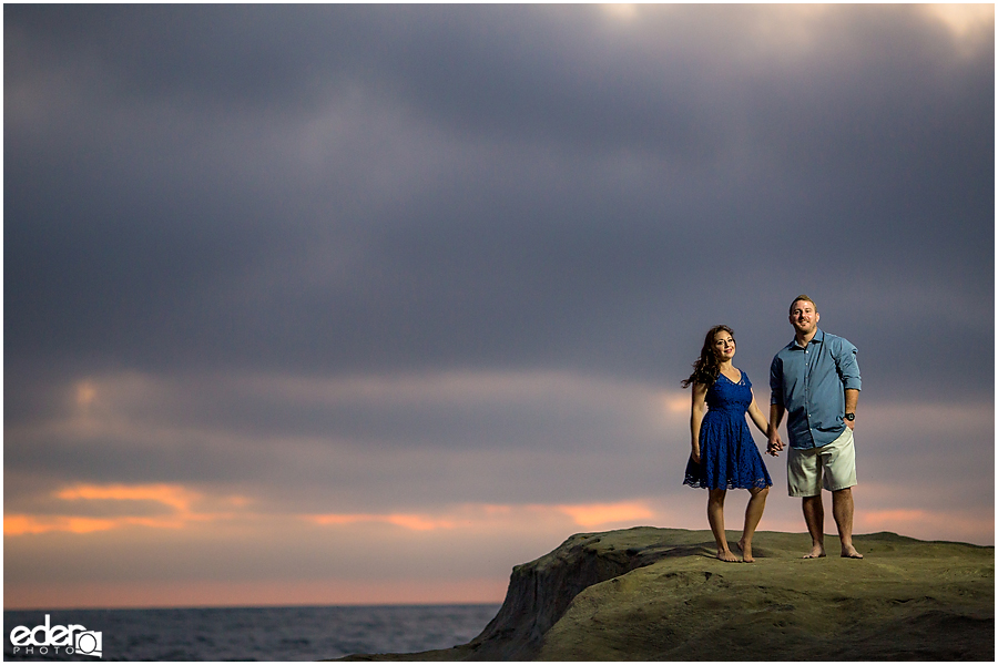 Sunset engagement photos in San Diego, CA.