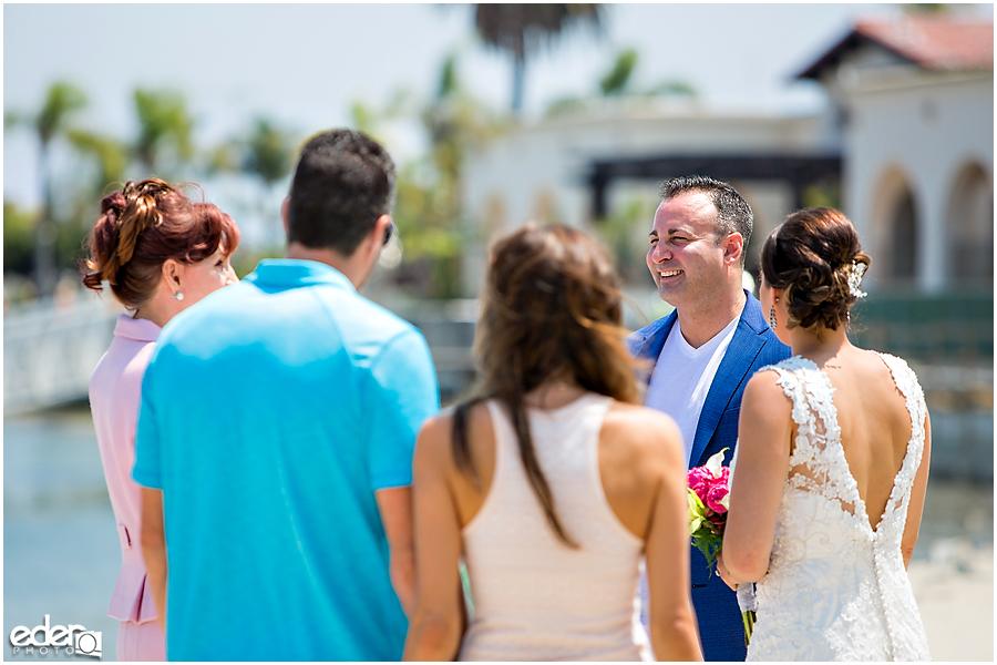 Beach elopement at the Kona Kai Resort in San Diego, CA.